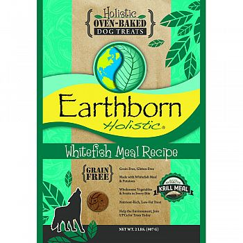 Earthborn Holistic Grain Free Dog Biscuits WHITEFISH 2 POUND (Case of 6)