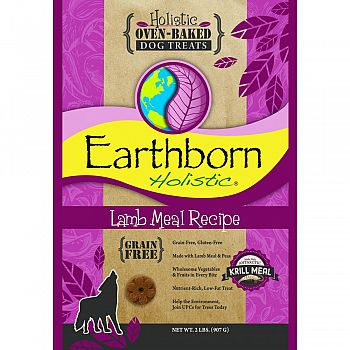 Earthborn Holistic Grain Free Dog Biscuits LAMB 2 POUND (Case of 6)