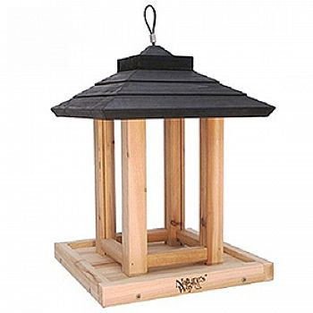 Cedar Gazebo Bird Feeder - 8 qt.