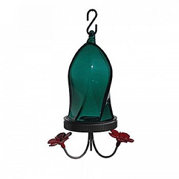 Twisted Jewel Hummingbird Feeder - Teal / 16 oz.
