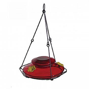 Modern Hummingbird Feeder - Red 24 oz.