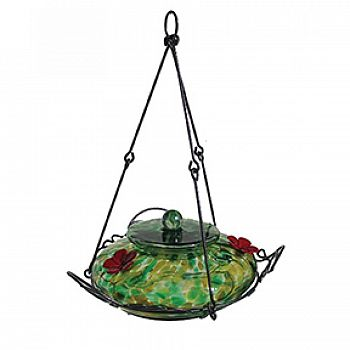 Garden Hummingbird Feeder - Green Yellow / 36 oz.