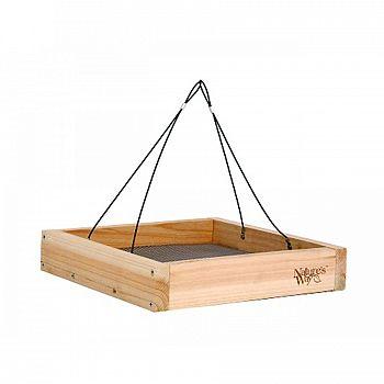 Hanging Platform Feeder for Wild Birds - Cedar / 12x12x3 in