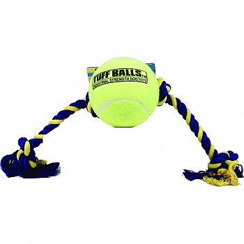 Mega Tuff Ball Tug Dog Toy YELLOW 6 INCH