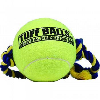 Mega Tuff Ball Tug Dog Toy YELLOW 4 INCH