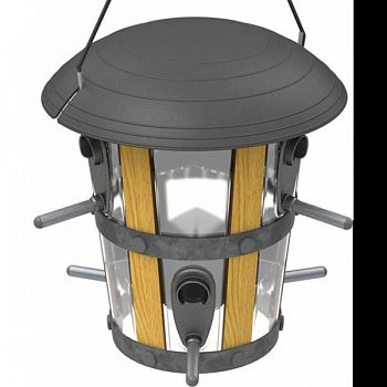 Twist And Clean Decorative Lantern Feeder BROWN 3.5 QUART