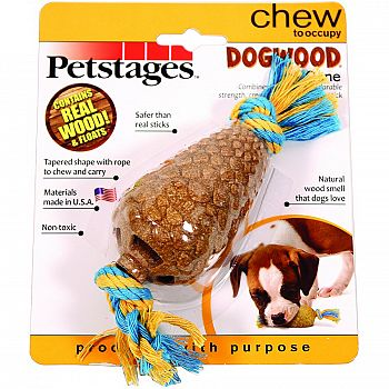 Dogwood Pine Cone Dog Chew Toy - Small