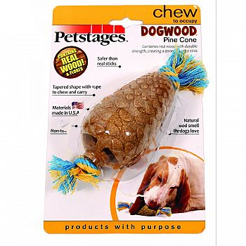 Dogwood Pine Cone Dog Chew Toy - Medium