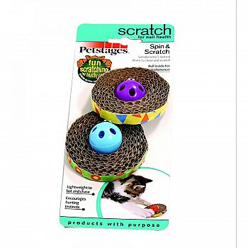 Spin And Scratch Cat Toy - 2 ct.