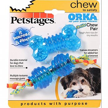 Orka Petite Chew Pair Dog Toy
