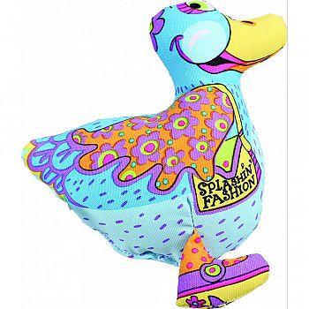 Madcap Splashin Fasion Duck Dog Toy MULTICOLORED 6 INCH