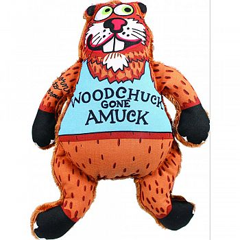 Madcap Woodchuck Gone Amuck Canvas & Plush Toy MULTICOLORED 11 INCH