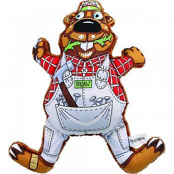 Madcap Born To Build Beaver Canvas & Plush Toy MULTICOLORED 11 INCH