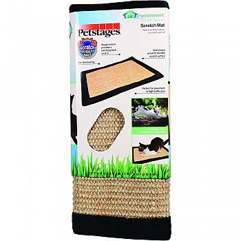 Invironment Sisal Weave Scratch Mat TAN/BLACK 18 INCH