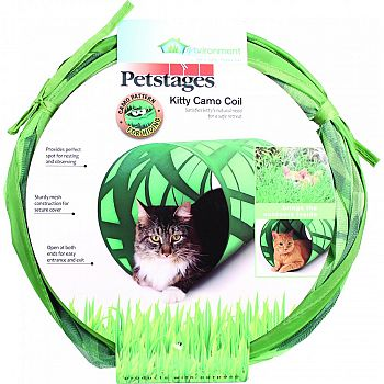 Invironment Kitty Camo Coil Play Tunnel GREEN 12X24 INCH