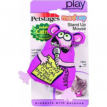 Madcap Stand Up Mouse Catnip Toy MULTICOLORED 6 INCH