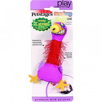Madcap Boingy Bird Catnip Toy MULTICOLORED 8 INCH