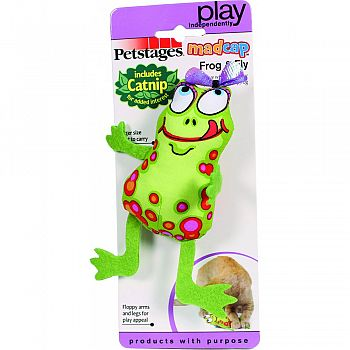 Madcap Frog & Fly Catnip Toy MULTICOLORED 8 INCH