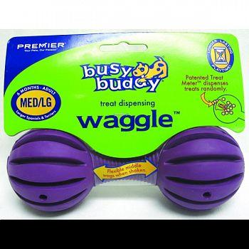 Busy Buddy Waggle PURPLE MEDIUM/LARGE