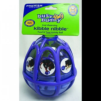 Busy Buddy Kibble Nibble Feeder Ball PURPLE SMALL