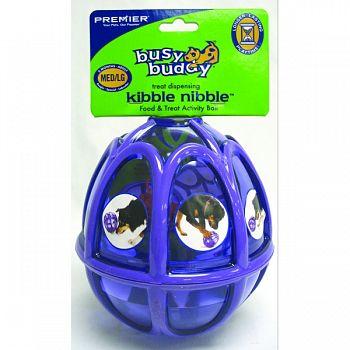 Busy Buddy Kibble Nibble Feeder Ball PURPLE MEDIUM/LARGE