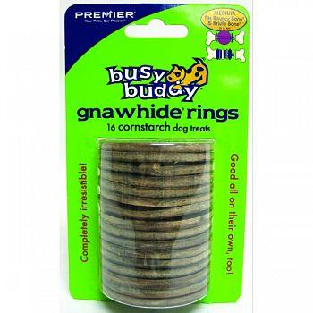 Busy Buddy Corns/bacon Rings  MEDIUM/16 PACK
