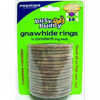 Busy Buddy Cornstarch Rings  LARGE/16 PACK