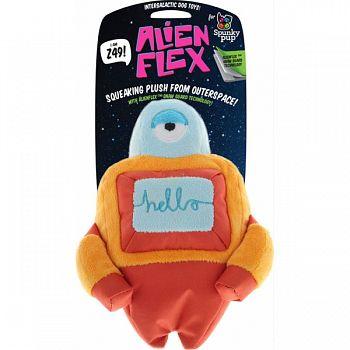 Spunky Pup Alien Flex Z49 Plush Dog Toy ASSORTED LARGE