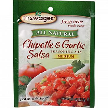 Mrs. Wages Chipotle Garlic Salsa Instant Mix
