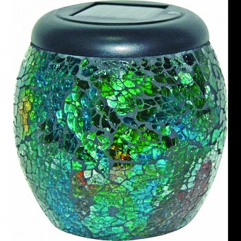 Led Mosaic Solar Jars Display  12 PIECE
