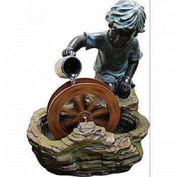 Boy With Wheel Fountain