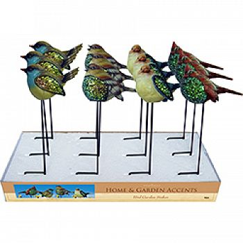 Mosaic Bird Garden Stakes (Case of 12)