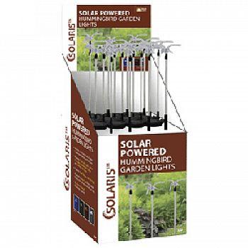 Solar Fiber Hummingbird Garden Stake (Case of 16)