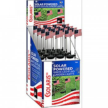 Solar Usa Flag Stake With White Led Lights (Case of 16)