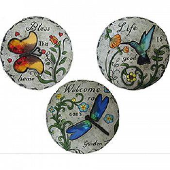 Inspirational Bird And Insect Stepping Stones (Case of 6)