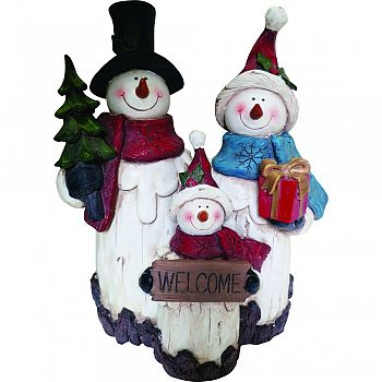 Snowman Family Statue  11 INCH