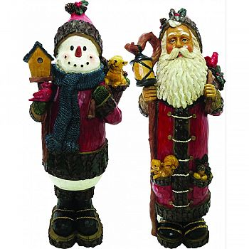 Santa & Snowman Christmas Statues  2 PIECE/18 INCH (Case of 2)