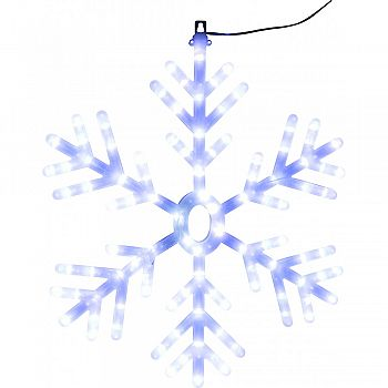 Hanging Snowflake Decoration W/led Lights WHITE 25 INCH