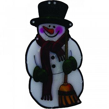 Snowman Indoor Hanging Decor With Lights  10 INCH