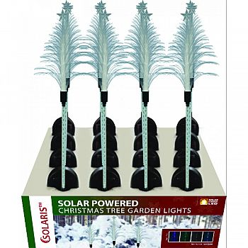 Solar Powered Christmas Tree Garden Lights ASSORTED 40 INCH (Case of 16)