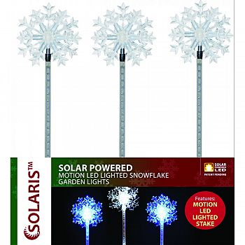 Solar Powered Snowflake Garden Lights ASSORTED 33 INCH (Case of 16)