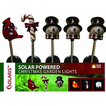 Solar Powered Christmas Garden Lights ASSORTED 30 INCH (Case of 20)