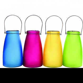 Hanging Glass Decor MULTICOLORED 6X6X10 INCH (Case of 48)