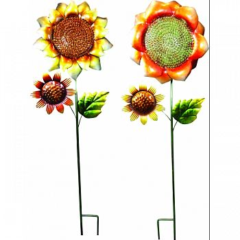 Metal Sunflower Garden Stake MULTICOLORED 10X3X37 INCH (Case of 8)