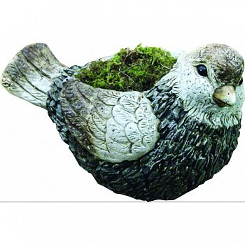 Bird Planter GRAY/WHITE 11X17X11 INCH