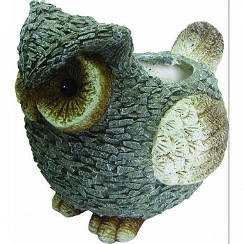 Owl Planter GRAY/WHITE 15X12X13 INCH