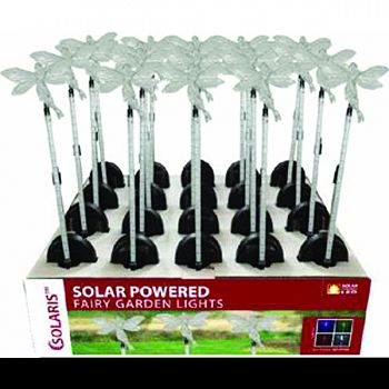 Solar Fairy Garden Stake With Motion Led ASSORTED 6X1X33 INCH (Case of 16)