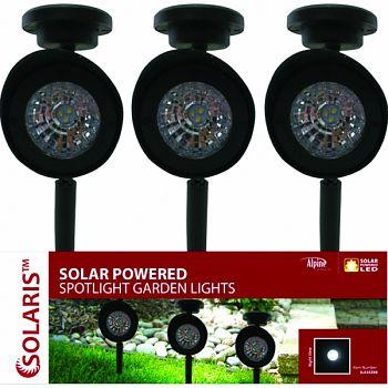 Solar Spot Lights BLACK 5X3X15 INCH (Case of 12)
