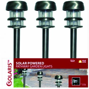 Solar Garden Light BLACK 3X3X15 INCH (Case of 15)