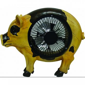 Pig Statuary With Fan YELLOW 11X4X9 INCH